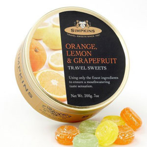 Lemon, Orange and Grapefruit Travel Sweets from Simpkins