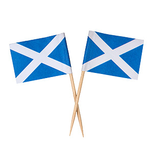 St. Andrews Cross Flag Toothpicks - Box of 100