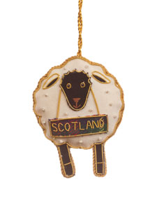 Scotland Black Face Sheep Ornament