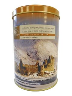 Scottish Winter Tea Drum - with orange & spices - 50 teabags