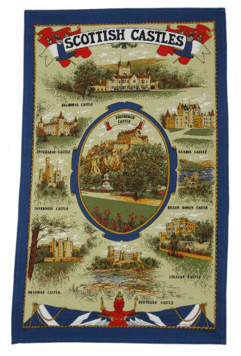 Scottish Castles Teatowel