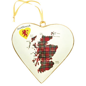 Heart of Scotland Metal Ornament