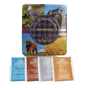 Scottish Selection Tea Tin - 40 teabags in 4 flavors