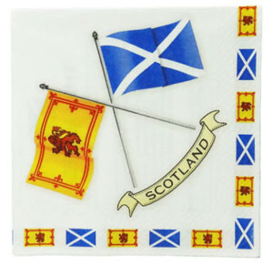 Scottish Flag Napkins - package of 20