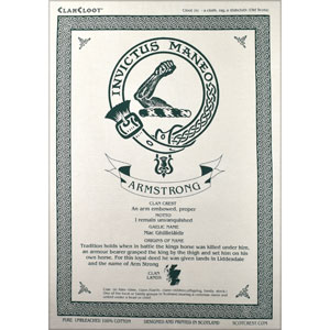 Armstrong Clan Teatowel
