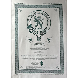 Brown Clan Teatowel
