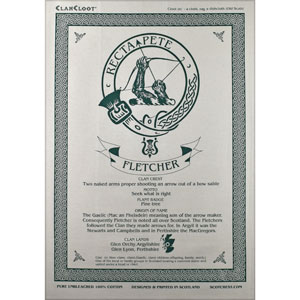 Fletcher Clan Teatowel