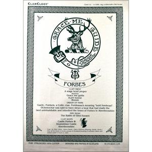 Forbes Clan Teatowel