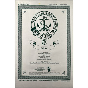 Gray Clan Teatowel