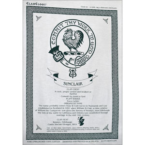 Sinclair Clan Teatowel