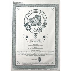 Thomson Clan Teatowel