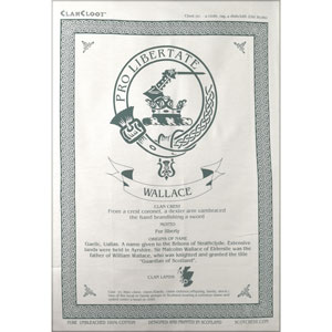 Wallace Clan Teatowel
