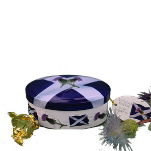 Saltire & Thistle Oval Fudge Tin