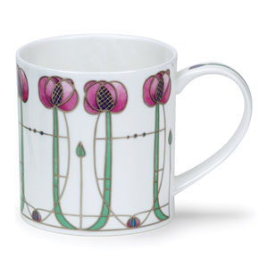 Argyle Rose in Pink - Dunoon Mug 11.8 oz.
