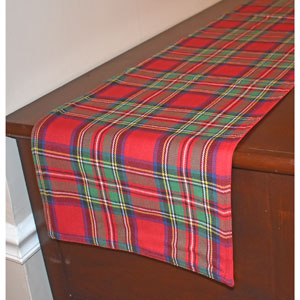 "Tartan Plaid Table Runner - 72"" by 13"""