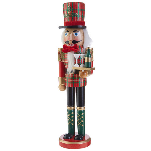 "Plaid Nutcracker 15"" tall"