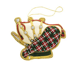 Embroidered Bagpipes Ornament