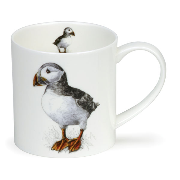 Puffin Art Mug from Dunoon Pottery