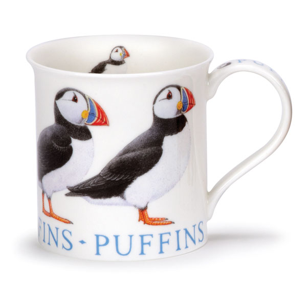 Puffin Mug in Bute Shape from Dunoon Pottery