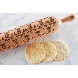 Thistle Engraved Rolling Pin