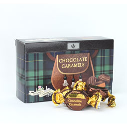 Chocolate Caramels in Kilted Box