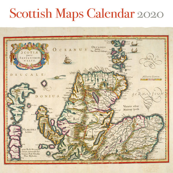 SALE Scottish Maps Wall Calendar 2020