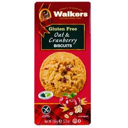 Walkers Gluten Free Oat & Cranberry Cookies