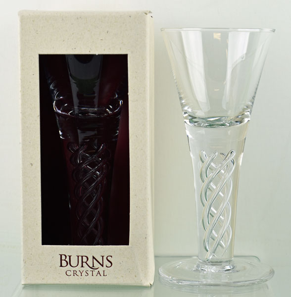 Burns Dram Glass with Air Twist Stem