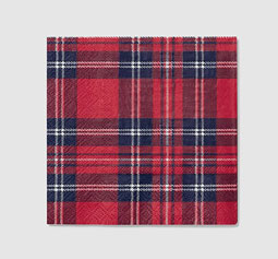 Tartan Cocktail Napkins package of 25- 5