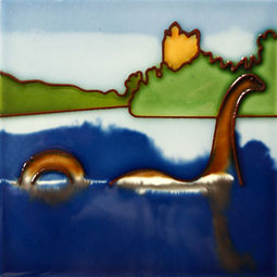 Loch Ness Monster 4 Inch Tile