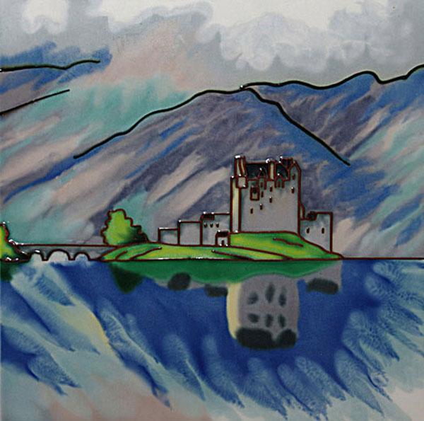 Eilean Donan Castle 8 Inch Square Tile