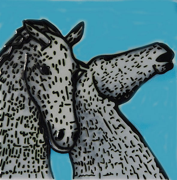 Kelpies 8 Inch Tile