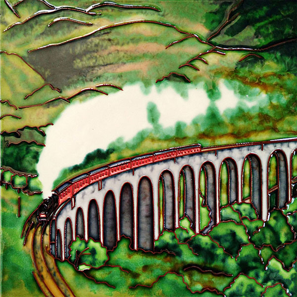 Glenfinnan Viaduct 8 Inch Square Tile