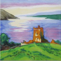 Urquhart Castle 8 Inch Square Tile