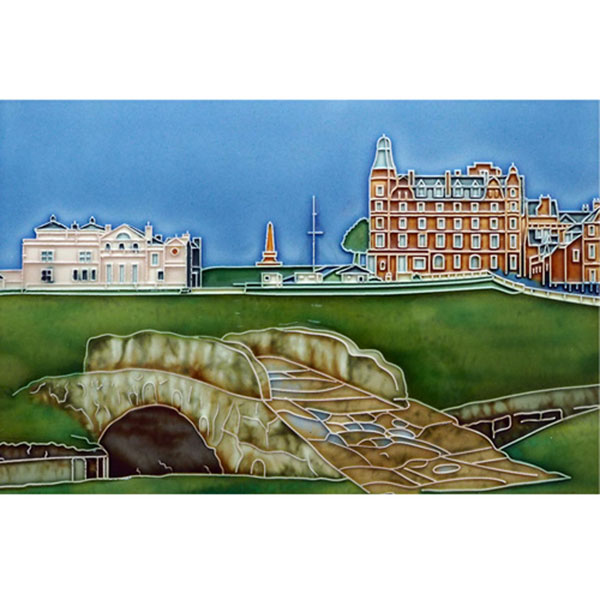 St. Andrews Swilken Bridge 12 by 8 Tile