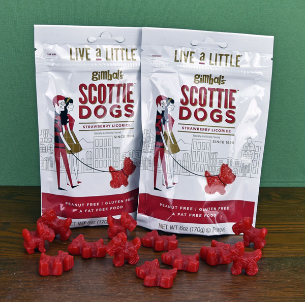 Red Licorice Scottie Dogs - two 6 oz. bags