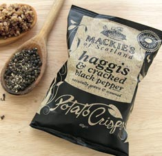 SALE Haggis & Cracked Black Pepper Potato Crisps 5.3 oz bag,