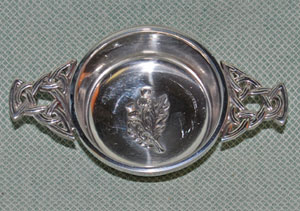Thistle Center Pewter Quaich - 2.5 inches