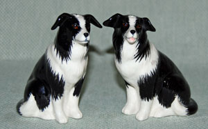 Border Collie Salt & Pepper Shakers