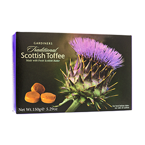 Scottish Toffee in a Thistle Box - Gardiners 5.2 oz.