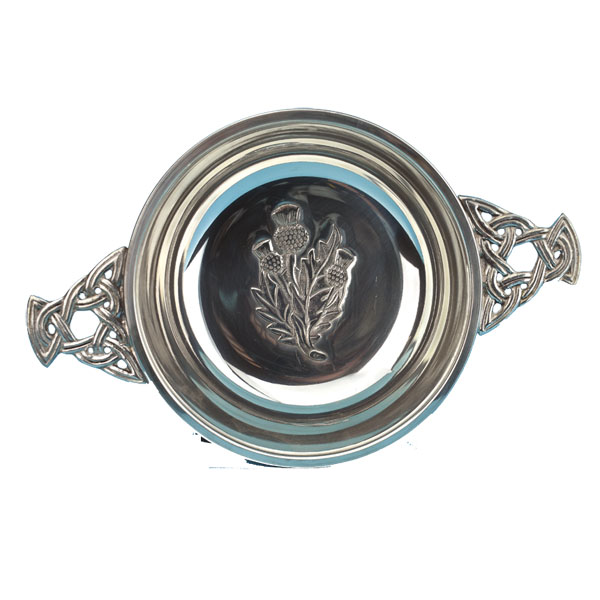 "5"" Thistle Center Pewter Quaich"