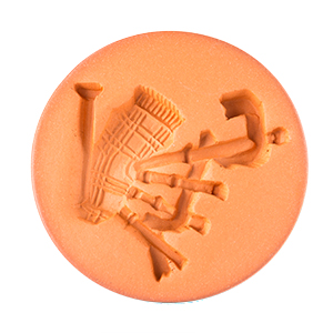 """Bagpipe Cookie Stamp 2"""""""