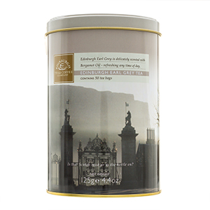 SALE Edinburgh Earl Grey Tea Drum - 50 teabags