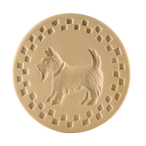 "Scottie Cookie Stamp 3"" Round"