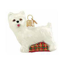 Westie Glass Ornament 2.5