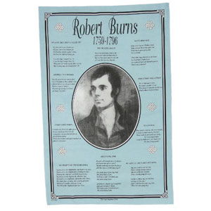 SALE Robert Burns Teatowel