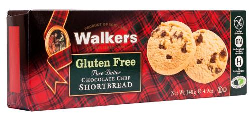 Gluten Free Chocolate Chip Shortbread Rounds from Walkers