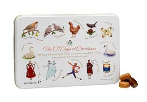 Twelve Days of Christmas Candy Tin