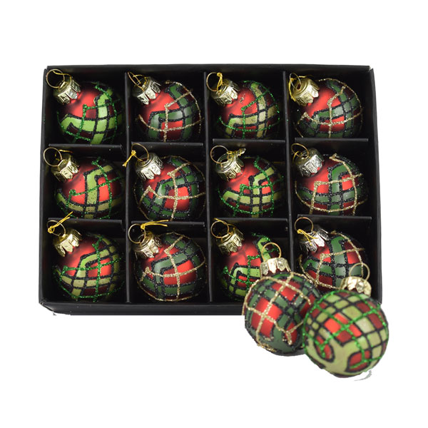 SALE Twelve Mini Tartan Baubles for your tree