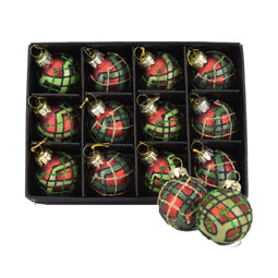 Twelve Mini Plaid Baubles for your tree